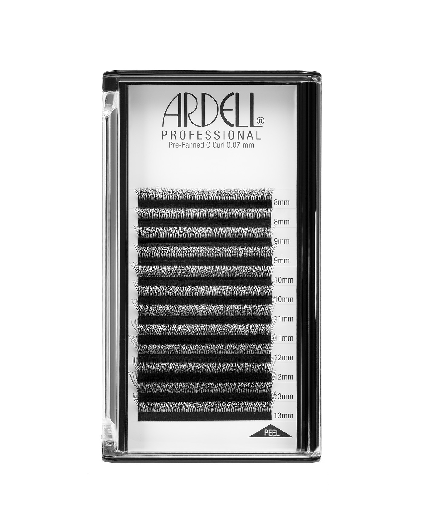 Ardell Professional Individual Lash Extensions Pre-Fanned (0.07mm) - C Curl, Assorted Multi-length, 8-13mm Pack