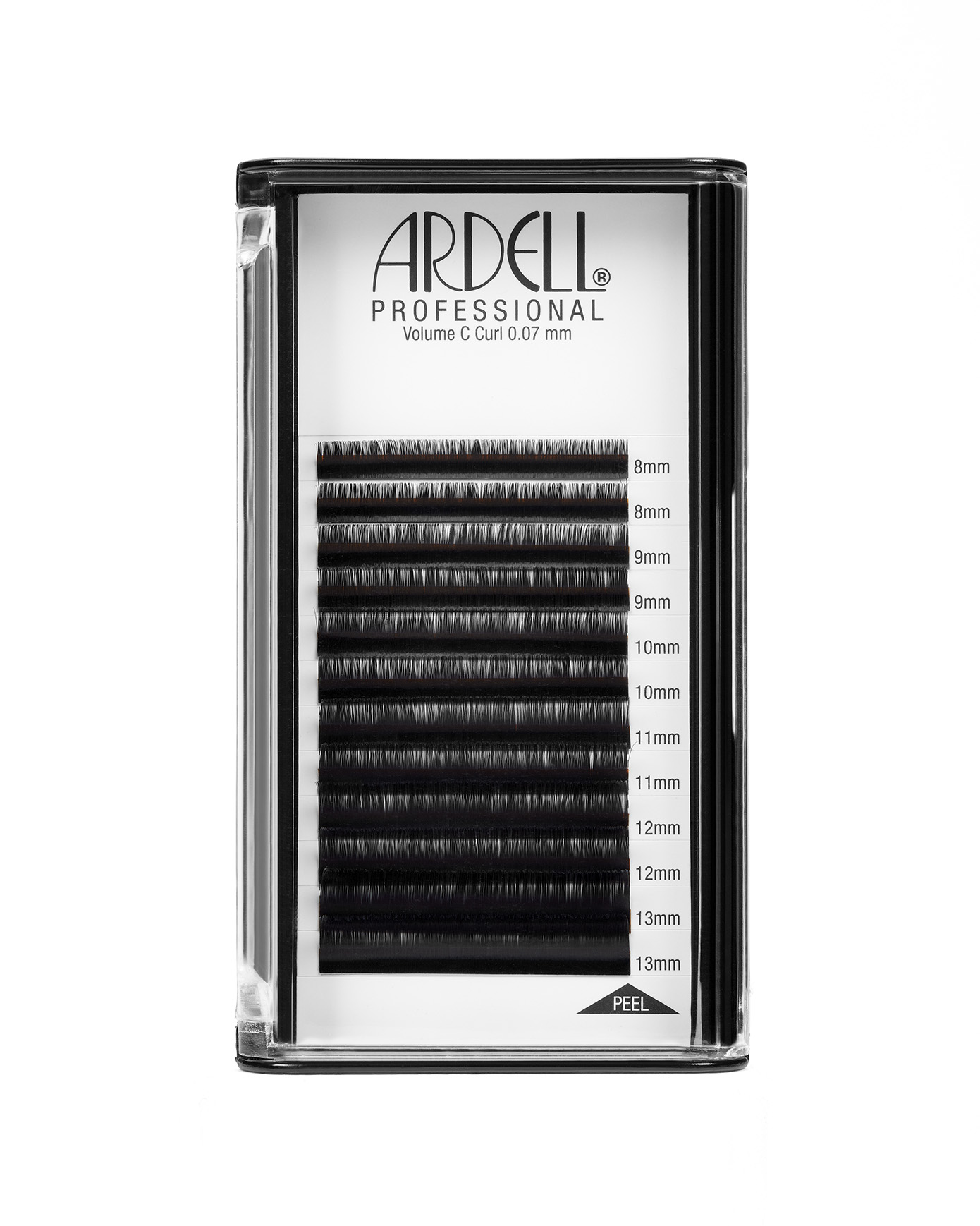 Ardell Professional Individual Lash Extensions Volume (0.07mm) - C Curl, Assorted Multi-length, 8-13mm Pack