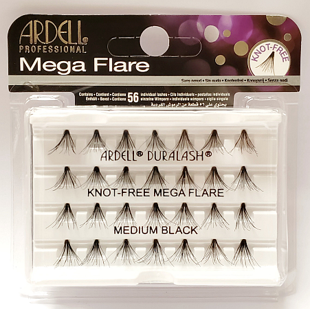 Ardell Mega Flare Individual Lashes Medium Black