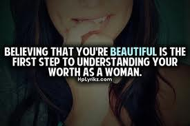 believing that you are beautiful