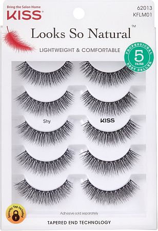 KISS Looks So Natural Multipack Lashes - Shy (KFLM01)