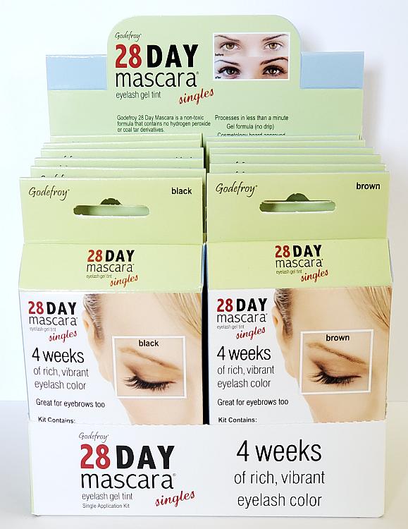 Godefroy 28 Day Mascara (Single Application Kit) 12 Piece Display