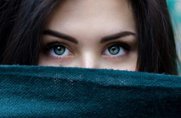 eyes; eyelashes; mysterious woman; powerful gaze