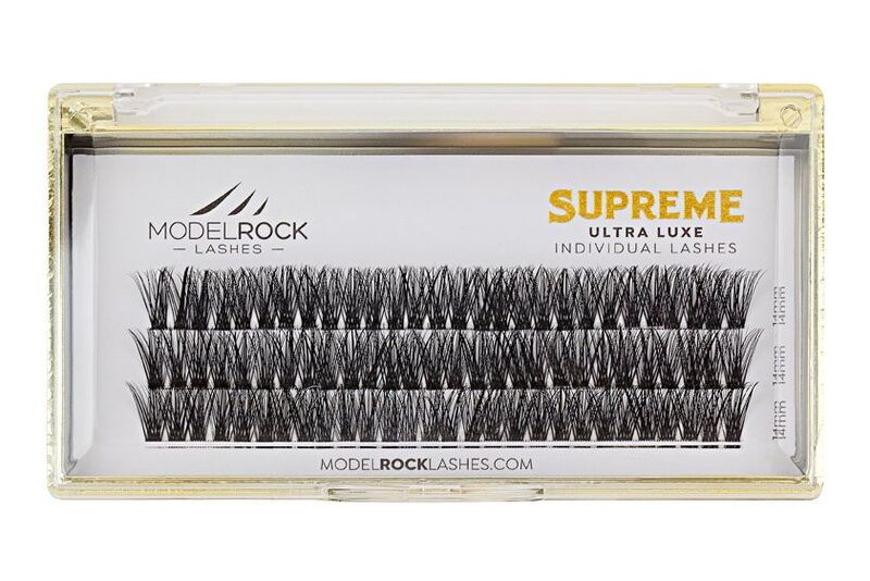 MODELROCK Ultra Luxe Individual Lashes - EXTRA LONG 14mm - SUPREME CLUSTER Style #1