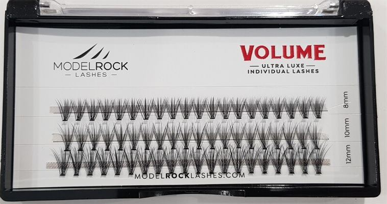 MODELROCK Ultra Luxe Individual Lashes - VOLUME 'MIXED LENGTHS' (8mm-10mm-12mm)