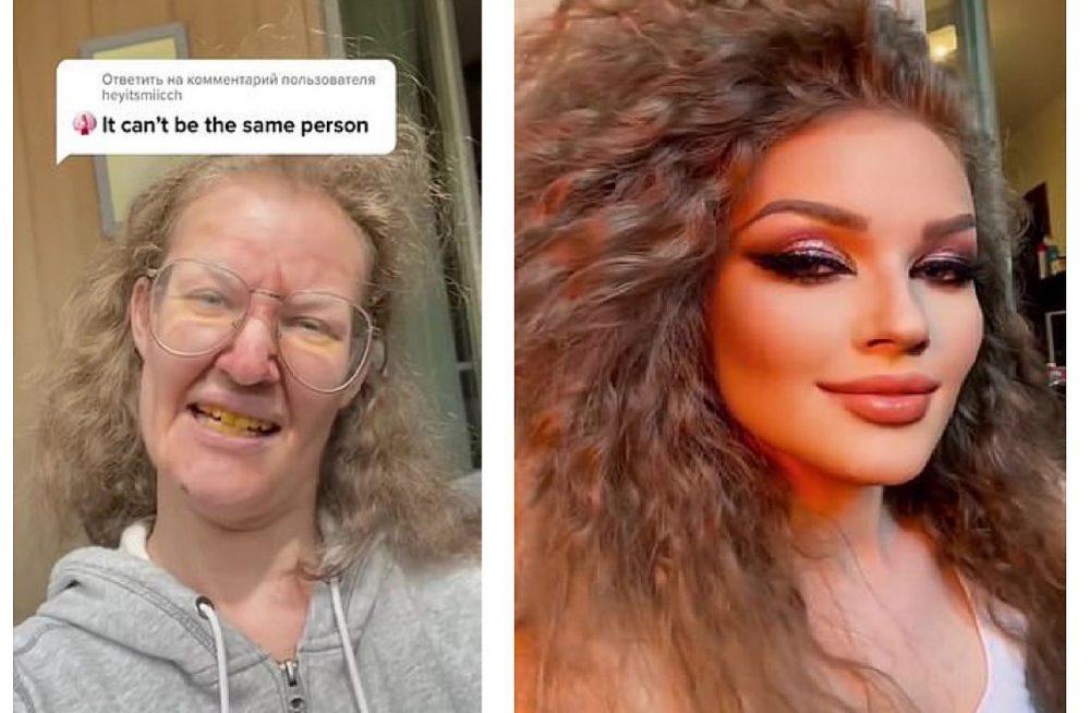 Valeria Voronina extreme makeover before and after TikTok video