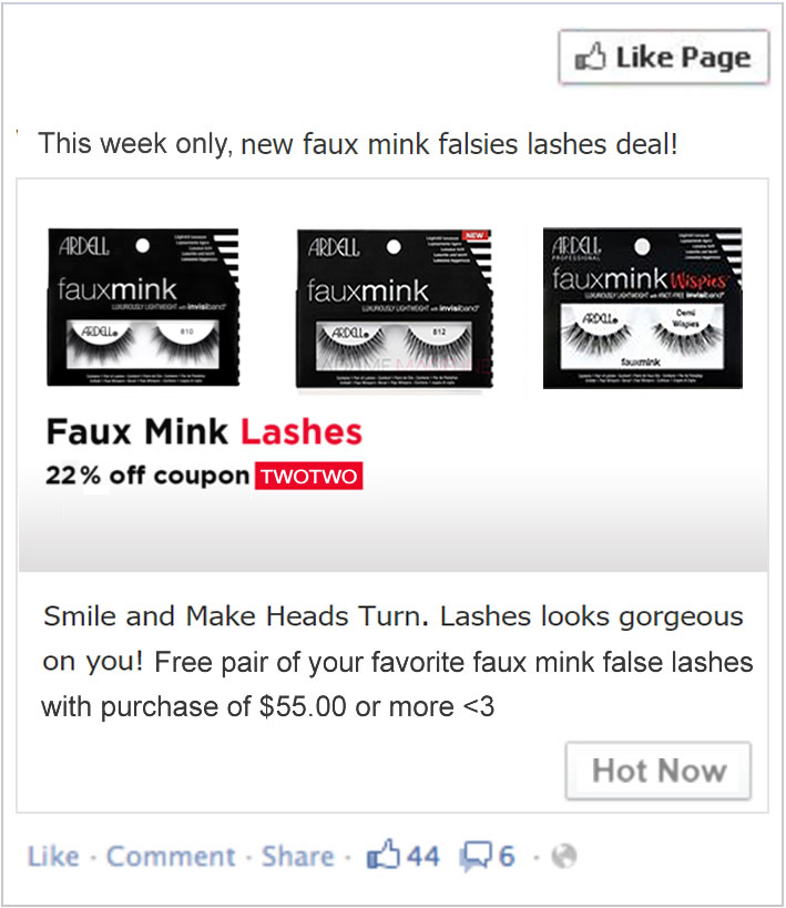 Free Ardell Faux Mink Lashes