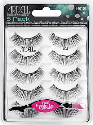 26e80619bea Ardell 5 Pack Lashes #105 (68985), Ardell Natural Multipack - Madame  Madeline Lashes