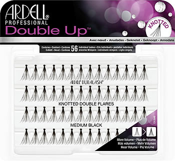 6dbd4bff04a Ardell Duralash Knotted Double Flares Individual Lashes Medium Black ...