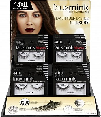 eff10f97ce1 Ardell Faux Mink 32 Pc Eyelash Display - New Styles (67384), Ardell Faux  Mink Lashes - Madame Madeline Lashes