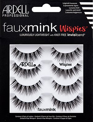 f87a9aecba5 Ardell Faux Mink Lashes Wispies 4-Pack, Ardell Faux Mink Lashes - Madame  Madeline Lashes