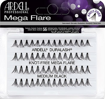 9eb142c2567 Ardell Mega Flare Individual Lashes Medium Black, Ardell Duralash Mega Flare  Knot Free Individual Lashes - Madame Madeline Lashes