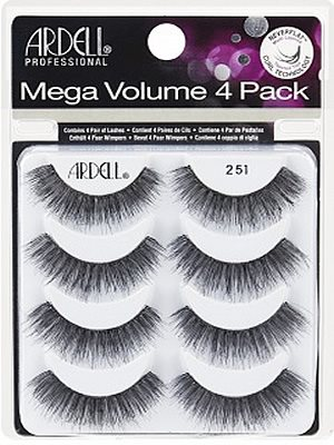 eb438a16e99 Ardell Professional Mega Volume 4 Pack Lash 251 Multipack, Ardell  Professional 3D Mega Volume Lashes - Madame Madeline Lashes