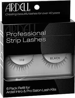 28d69a9861a Ardell Professional Strip Lashes Fashion Lashes #110 BLACK 6 Pack Refills, Ardell  LASH EXTENSION KITS - Madame Madeline Lashes