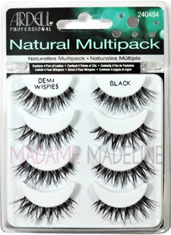 ardell demi wispies multipack with 4 pairs of lashes per multi-pack