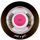 The perfect travel companion for every lash wearer, Bullseye 'Just a Girl…' refillable compact arrives complete with 1 pair of JOAN lashes and interior mirror.