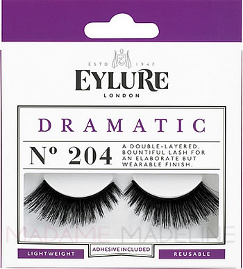 7a484fcf469 Eylure Naturalites DRAMATIC Lashes N° 204, Eylure Strip Eyelashes - Rebrand  Packaging - Madame Madeline Lashes