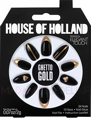 z.House Of Holland Nails By Elegant Touch - GHETTO GOLD ...
