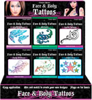 Fright Night Face & Body Tattoo 18pc Display (69523)