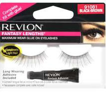 Revlon Fantasy Lengths Glue-On Lashes BLACK-BROWN (91081)